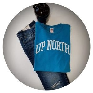 UP NORTH Fruit of the Loom Heavy Men's Tee Large